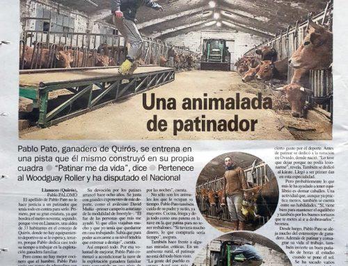 Pablo Pato en La Nueva España – Una animalada de patinador