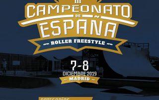 Cartel Campeonato de España Roller Freestyle 2019