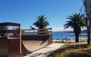 Minirampa madera playa de Luanco